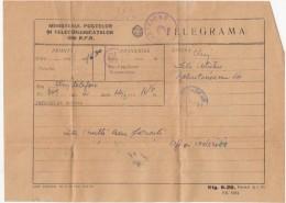 39991- TELEGRAMME SENT LOCO IN CLUJ NAPOCA, 1957, ROMANIA - Télégraphes