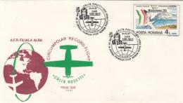 40025- CIRCUMPOLAR RECORD FLIGHT, CALIN ROSETTI, PLANE, SPECIAL COVER, 1987, ROMANIA - Polar Flights