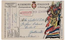 CARTOLINA POSTALE ITALIANA IN FRANCHIGIA - CORRISPONDENZA DEL R. ESERCITO - POSTA MILITARE - 1918 - War 1914-18