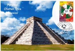 Algerije No. 1712 FDC Oudheidkunde Piramide Chichen Itza Mexico Aztec Maya Mexico Monumenten - Monumenten