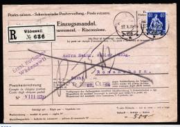 A3880) Schweiz Protestiertes Einzugsmandat Mit Inhalt Von Wädenswil 27.10.22 - Briefe U. Dokumente