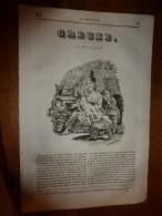 1835 LM :Les Merveilleuses ABEILLES (texte Et Gravures); AGRIGENTE (Sicile); Temple De La Concorde; GREUZE - Books, Magazines, Comics