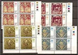 1976 Gran Bretagna  Great Britain NATALE CHRISTMAS 4 Serie Di 4 V. (813/16) In Quartina MNH** Bl.4 - Christmas