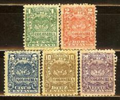 COLOMBIA 1902.__.__ [161:165-1] Escudo. 8a. Emision - Colombia