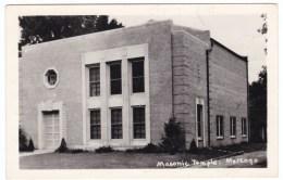 Marengo Iowa, Masonic Temple, Architecture, C1950s Vintage Real Photo Postcard - United States