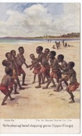 Upper Congo, Girls Play Hand-clapping Game, Artist Image Children, C1910s Vintage Postcard - Congo - Brazzaville