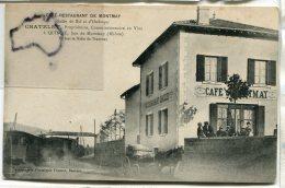 - Quincié - (Rhône ), Café Restaurant De Montmay, Chatelet Propriétaire, Tramway, Attelage, Coupure Dans Le Bas,  Scans. - Sonstige Gemeinden