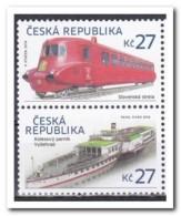 Tsjechië 2016, Postfris MNH, Trains, Ships - Tsjechië