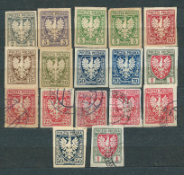 Poland 1919, MiNr 54-64 Unused, (*) And Used - Lot - 1919-1939 République