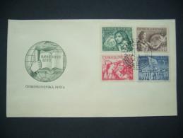 FDC Czechoslovakia 1950: Stamp Mi 622-625 - POF 550-553 -  II. Congress Of The International Students Union - FDC