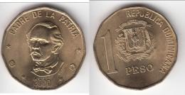 TOP QUALITY ** REPUBLIQUE DOMINICAINE - DOMINICAN REPUBLIC - 1 PESO 2000 - PADRE DE LA PATRIA ** EN ACHAT IMMEDIAT !!! - Dominicana