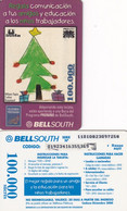 """ECUADOR - Christmas, Children""""s Drawing, BellSouth Prepaid Card 100000 Sucres, Used"""