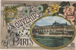 D75 - SOUVENIR DE PARIS - LOT DE 2 CPA - GARE D'ORSAY ET GARE DE LYON - Otros