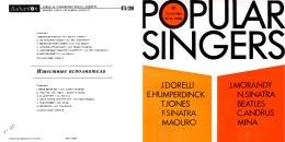 POPULAR SINGERS (1971) - Disco, Pop