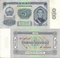 Mongolia P37 - 5 Tugrik Note Of 1966, Sukhe Bataar & Horse - Mongolie