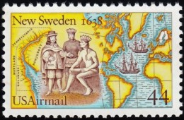 UNITED STATES - Scott #C117 New Sweden Settlement 350th Anniversary (*) / Used Stamp - 3a. 1961-… Used