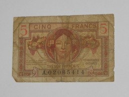 5 Francs 1947 - Trésor Francais - Territoires Occupés  **** EN ACHAT IMMEDIAT **** - Treasury