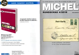 Briefmarken Rundschau MICHEL 4/2016 Neu 6€ New Stamps Of The World Catalogue/magacine Of Germany  ISBN 978-3-95402-600-5 - Tedesco