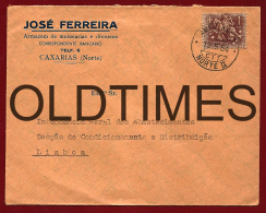 PORTUGAL - CAXARIAS - JOSE FERREIRA  - AMBULANCIA NORTE II - 1950 ENVELOPE - 1910-... Republic
