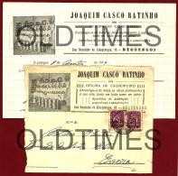 PORTUGAL - REGUENGOS - OFICINA DE CALDEIREIRO - JOAQUIM CASCO RATINHO - 1950 ENVELOPE AND LETTER - 1910-... Republic