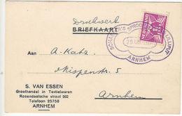 Netherlands: Postcard With Fancy Arnhem Cancel, 29 March 1937 - Netherlands