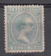 Cuba 1891 Mi Nr 83 Koning  Alfons XIII - Oblitérés