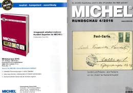 MICHEL Briefmarken Rundschau 4/2016 Neu 6€ New Stamps Of The World Catalogue/ Magacine Of Germany ISBN 978-3-95402-600-5 - Riviste: Abbonamenti