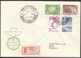 Finland Helsinki 1952 Olympic Games Helsinki 1952 / Football, Athletics, Diving / R Letter - Summer 1952: Helsinki