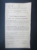 VP CARTE D'ASSURé OBLIGATOIRE (M1605) 1952 - 1953 (2 Vues) WOLUWE ST PIERRE - Documenti Storici
