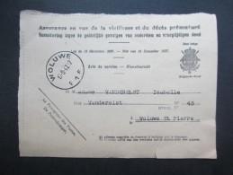 VP ASSURANCE EN VUE DE LA VIEILLESSE ET DU DéCèS PRéMATURé (M1605) F1F Et E1E (2 Vues) WOLUWE ST PIERRE 1947 - Historische Dokumente