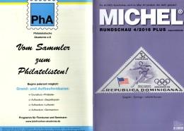 MICHEL Briefmarken Rundschau 4/2016-plus Neu 6€ New Stamps World Catalogue / Magacine Of Germany ISBN 978-3-95402-600-5 - Mitteilung