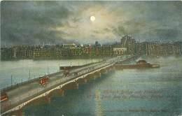BOSTON - Harvard Bridge And Panorama Of The Back Bay By Moonlight - Boston