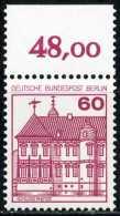 A11-11-4) Berlin - Mi 611 Oberrand - ** Postfrisch (C) - 60Pf  Burgen Und Schlösser - Ungebraucht