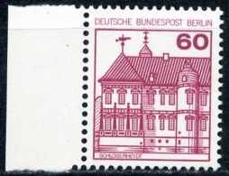 A11-11-5) Berlin - Mi 611 Rand Links - ** Postfrisch (C) - 60Pf  Burgen Und Schlösser - Ungebraucht