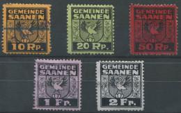 1378 - SAANEN Fiskalmarken - Fiscaux