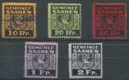 1378 - SAANEN Fiskalmarken - Steuermarken