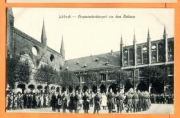 MCA-20  Lübeck. Promenadekonzert Vor Dem Rathaus. Sehr Belebt. Nicht Gelaufen. - Luebeck