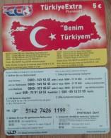 Scheda Telefonica Germania TurkiyeExtra Map 5 Euro  Usata