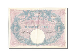 France, 50 Francs, 50 F 1889-1927 ''Bleu Et Rose'', 1919, 1919-09-13, KM:64e,... - 1871-1952 Antichi Franchi Circolanti Nel XX Secolo