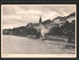 CPA Basel, Damperpartie Auf Dem Rhein Avec Münster - BS Basle-Town