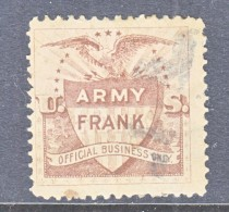 US  ARMY OFFICIAL  FRANK  (o)  SPANISH-AMERICAN WAR - United States