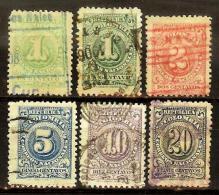 COLOMBIA 1904.08.01 [212:216-1] Números, Efigie Y Escudo - Colombia
