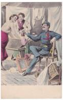 #5663 Militaria, UPU Old Postcard Unused: Hungarian Soldier Merry With Beer - Humor