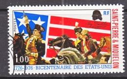 ST. PIERRE &  MIQUELON  447   (o)  FLAG  AMER.  BICENTENNIAL - St.Pierre & Miquelon