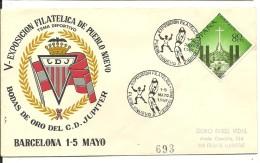 MAT.1959   BARCELONA  TEMA DEPORTES - 1951-60 Briefe U. Dokumente