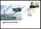2015 FDC Canc Moscow Russia Russland Russie Rusia Ryssland Pilot  Safonov-aviation-WW2 Mi 2207 - Aerei