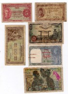 LOT DIVERS BILLETS ANNEES 41 ( INSTITUT D'EMISSION DE L'AOF Et Du TOGO, BURMA, JAPON, MALAISIE, EGYPTE..) - Billets