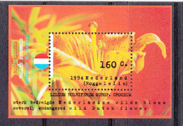 Nederland 1994 Nvph Nr 1604  Mi Nr Blok 40 Natuur En Milieu Roggelelie,  Tiger Lily - Ongebruikt