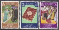BRIT VIRGIN Is, 1977 QUEENS JUBILEE 3 MNH - British Virgin Islands