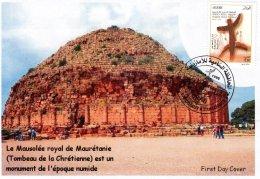 Algerije No 1686 FDC Royal Mausoleum Van Mauretanië (Graf Van De Christelijke) Oudheidkunde Geschiedenis Monument De Num - Archeologie